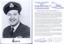 UC2 RAF photograph signed BULLOCH DSO DFC U-boat Ace