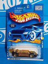 Hot Wheels 2001 Mainline #211 Krazy 8s Black & Gold Chrome w/ PR5s