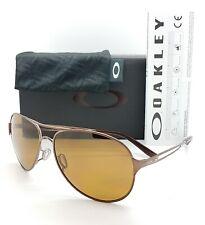NEW Oakley Caveat sunglasses Brunette Bronze Polarized AUTHENTIC 4054-05 Aviator