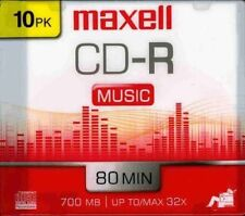 Maxell Cdr-80mu/10 32x Write-once Cd-r For Audio (maxell Cdr80mu10) (625133)