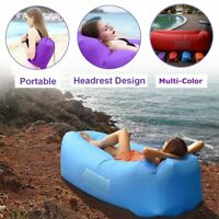 Portable Inflatable Lounger Air Sofa Outdoor Picnic Beach Mattress Mat Lazy Bed