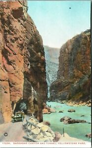 SHOSHONE CANYON and TUNNEL YELLOWSTONE PARK  Postcard Haynes17236 trimmed
