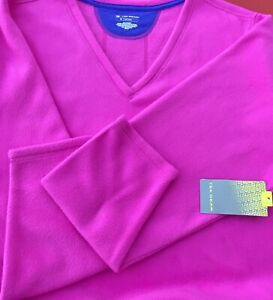 3X  Women's TEK Gear Fleece Top, Long Sleeves, New With Tag, Hot Pink/Magenta