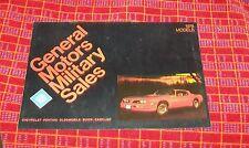 General Motors militaires ventes modèles 1978 brochure CHEVROLET PONTIAC BUICK