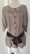 Chemise longue en soie avec ceinture ZARA TS
