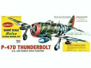 A Guillows kit of the P-47 Thunderbolt-This is a magnificent kit for a display m