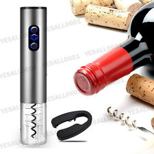 Electric Automatic Wine Bottle Opener Battery Recharging Corkscrew Foil Cutter