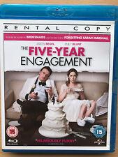 Jason segel Emily Blunt FIVE YEAR ENGAGEMENT ~ 2012 Romantic Comedy UK Blu-ray