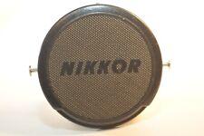 Nikon 52mm lens cap Nikkor Chrome buttons German market Nippon Kogaku Vintage