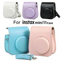 Instant-Kameratasche für die einfarbige PU-Ledertasche Instax Mini 11