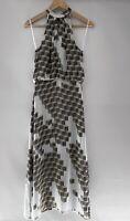 SABA gorgeous Printed Silk Maxi Dress Size 6