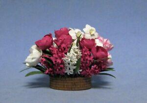 "1"" Scale Bulb Garden basket pink-white kit designed by sdk miniatures LLC"