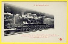 cpa GARE LOCOMOTIVE pour TRAINS rapides Lourds Machine N° 3147 Reseau EST