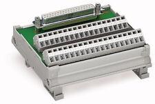 289-556 Wago Übergabebaustein mit Sub-Min-D-Buchsenleiste 15-polig Gegenstecker