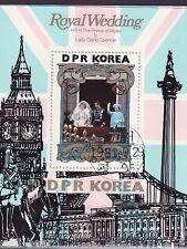 Korea Bl. 105  gest.   Lady DIANA Hochzeit mit Prinz Charles