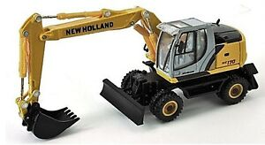 Nuovo Holland WE170 Ruote Scavatore 1/87th Scala Giallo/Grigio/Nero Tracciata