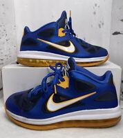 Nike Mens LeBron 9 Low Entourage Basketball Shoes Blue 510811-402 Size 9 Mesh