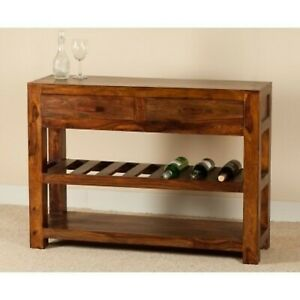 Contemporary Kompact solid wood console Hall table Wine rack (MADE TO ORDER)