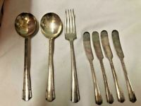 Vintage Wm Rogers Mfg Co Original Rogers Silverplate Flatware 12 Pieces