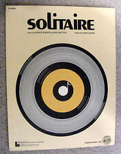 1951 SOLITAIRE Vintage Sheet Music by King Guion, Renee Borek, Carl Nutter
