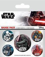 STAR WARS Badge Pack of 5 Safety Pin Backed Badges DARK SIDE