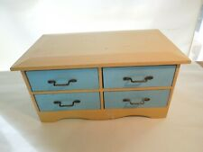 "Decoline Antique Style 4 Drawer Table Top Wood Chest Organizer 10"" x 6"" x 5"""