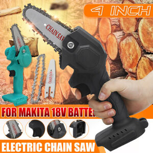 4 inch Mini Electric Chain Saw Wood Cutter Cordless Body For Makita 18V Battery