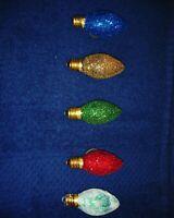 Handmade Glitter Christmas Bulb Magnets