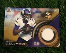 2015 Teddy Bridgewater Bowman Relic Jersey Patch #ED /50 Minnesota Vikings