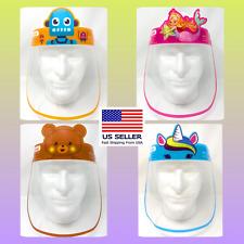 Kids Face Shield Face Mask Anti Splash Plastic HD Clear Anti Fog - Fast Ship