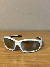 """""""SWAGGER"""" STYLE SAFETY GLASSES WHITE FRAME SILVER MIRROR LENS  SR127"""
