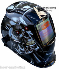 Auto Oscurecimiento Casco Soldadura Soldadores Máscara Cráneo De Metal Solar **