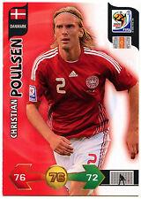 Christian Poulsen Danmark Adrenalyn XL World Cup 2010 Football Trade Card (C244)