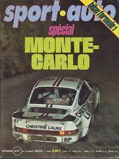 SPORT AUTO n°180 JANVIER 1977 avec encart et poster MONTECARLO ALPINE A442 TURBO