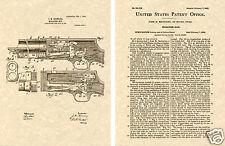 Stevens 520 Pump Shotgun - Us Patent Art Print Ready To Frame! Browning Shot Gun