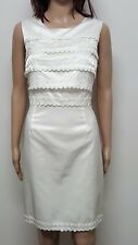 REVIEW 12 ivory color semi fitted occasion  dress . Lined.  Sleeveless. NWT