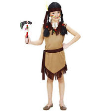 Childrens Indian Girl Fancy Dress Pocahontas Costume Outfit 128Cm 5-7 Yrs