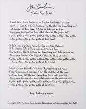 "JOHN SINCLAIR Signed Autograph John Lennon ""John Sinclair"" Lyrics The Beatles"