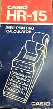 new Casio Hr-15 Electronic Printing Calculator w/Original Box vintage