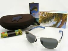 NEW Maui Jim GUARDRAILS Silver & Neutral Grey Polarized 327-17