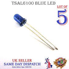 5x 940 µ IR LED Lámpara Azul 5 mm ir emisor tsal 6100 de alta potencia
