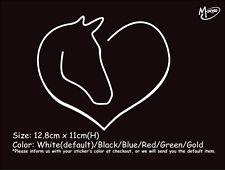 HORSE HEAD HEART Reflective  Car Truck  Sticker Window Decal Best Gift-