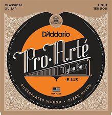 D'Addario Pro Arte Nylon Core Classical Guitar Strings light tension; EJ43