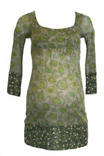 OLIAN Maternity Women's Green Floral Print 3/4 Sleeve Tunic XS NEW