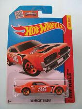 Hot Wheels 2014 HW Race - '68 MERCURY COUGAR (Orange) #181/250 - New In Packet