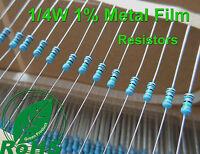 1000 pcs 100K Ω Ohms Metal Film Resistors 1/4W 0.25W 1% Tolerance Rohs