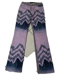 Roberto Just Cavalli jeans zampa bootcut donna woman tg 42 28 viola multicolore