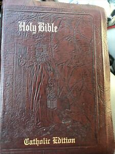 NEW CATHOLIC VERSION OF HOLY BIBLE 1961 DOUAY/CONFRATERNITY LEATHER COVER