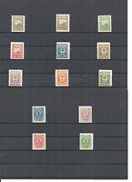 Memel, Litauen, Klaipeda 1923, Einzelmarken aus MiNrn: 151 - 163 **, postfrisch