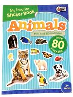My Favorite Sticker Book Animals for Kids Fun and Educational 80+ Stickers 3+